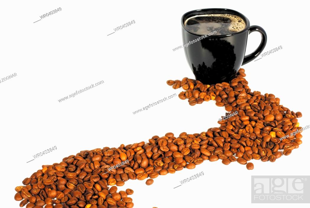 Stock Photo: cup of coffee.