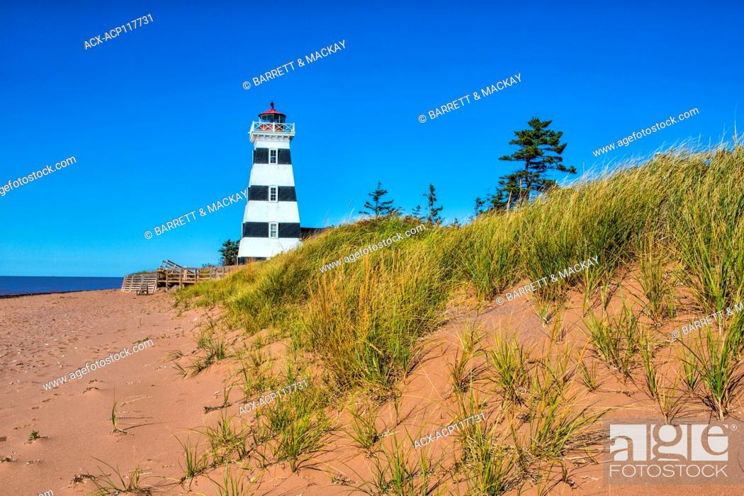 Stock Photo: West Point Lighthouse, Prince Edward Island, Canada,.