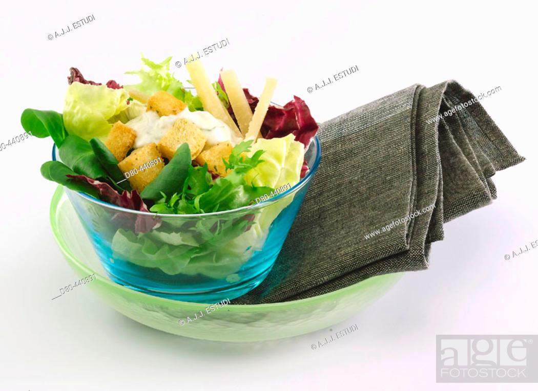 Stock Photo: Mixed salad.