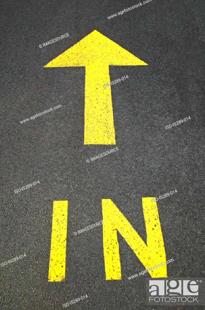 Stock Photo: Road marking.
