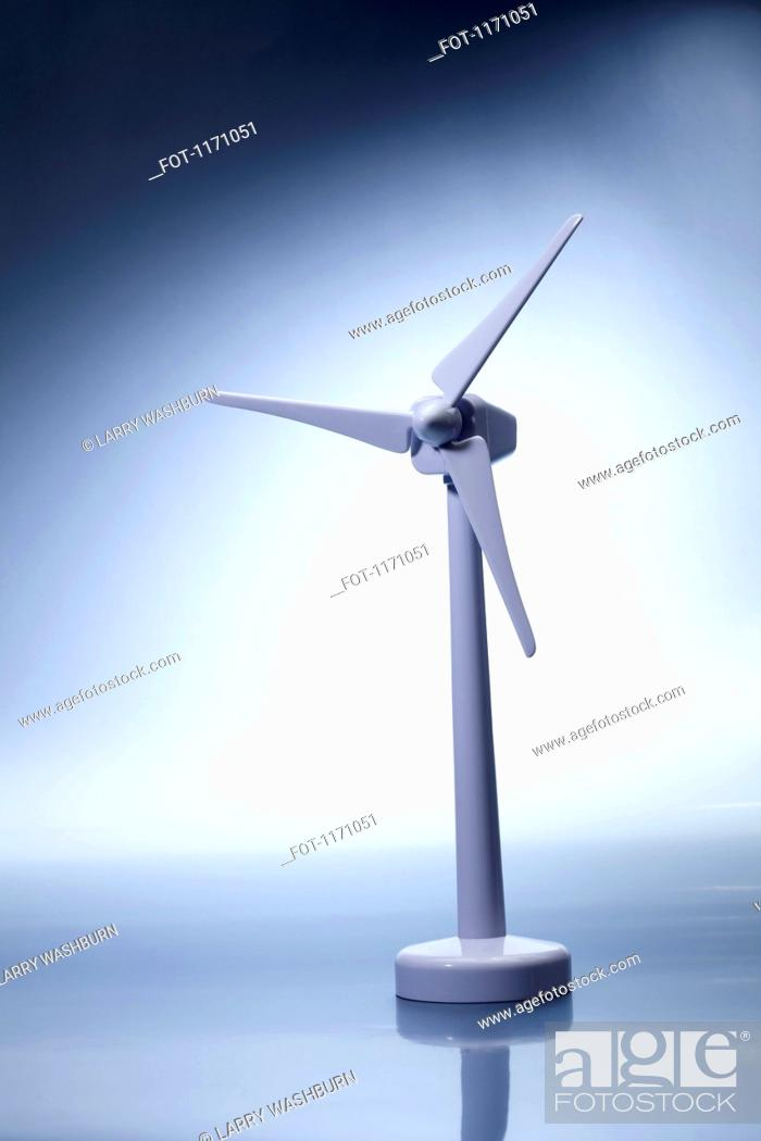 Stock Photo: A model of wind turbine.