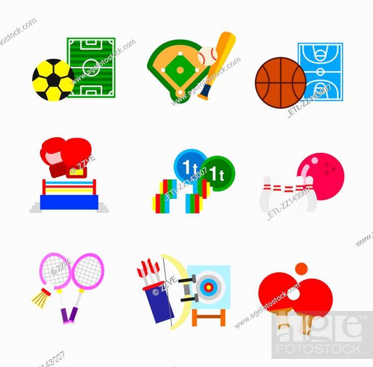 Stock Photo: various sports.