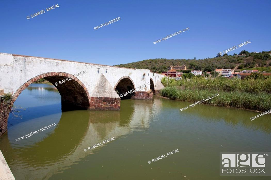 Stock Photo: Silves is a town on the Portuguese Algarve, in the district of Faro. It is located near a Roman bridge over the Arade River and thus controls the river valley.