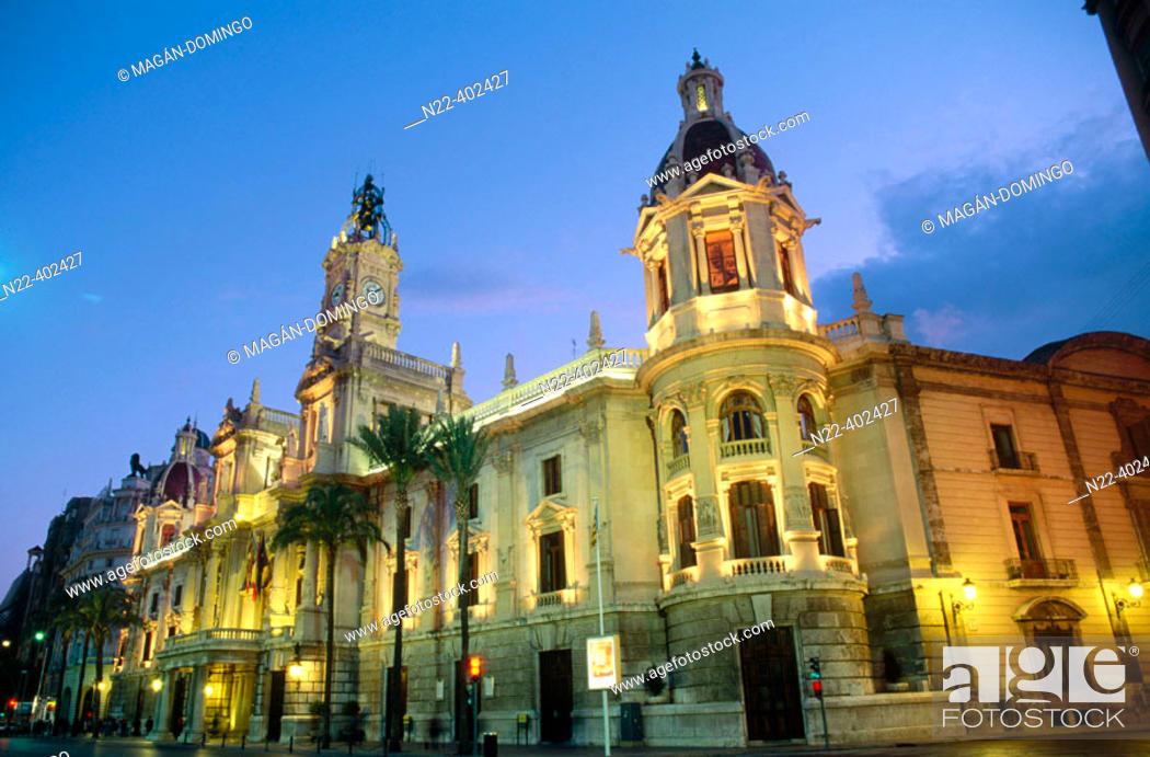 Stock Photo: City Hall, Valencia. Spain.