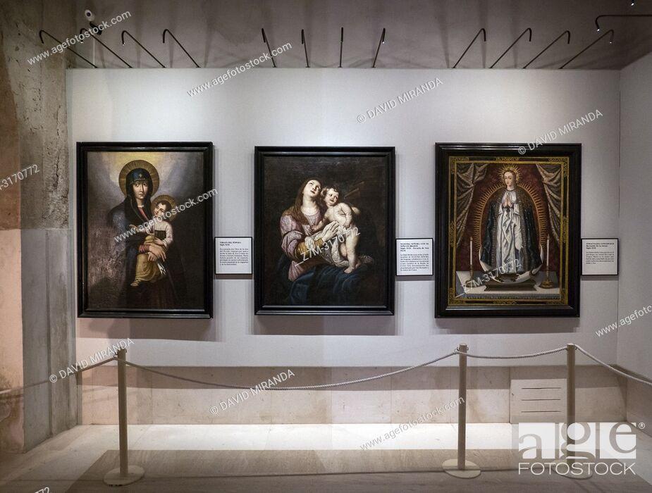 Stock Photo: Paintings in the Chapter Room, now a museum. Monasterio de Santa María del Salvador. Cañas. La Rioja. Spain.