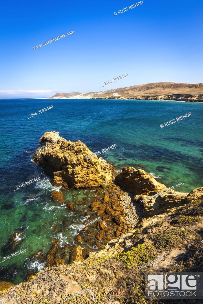 Stock Photo: Skunk Point, Santa Rosa Island, Channel Islands National Park, California USA.