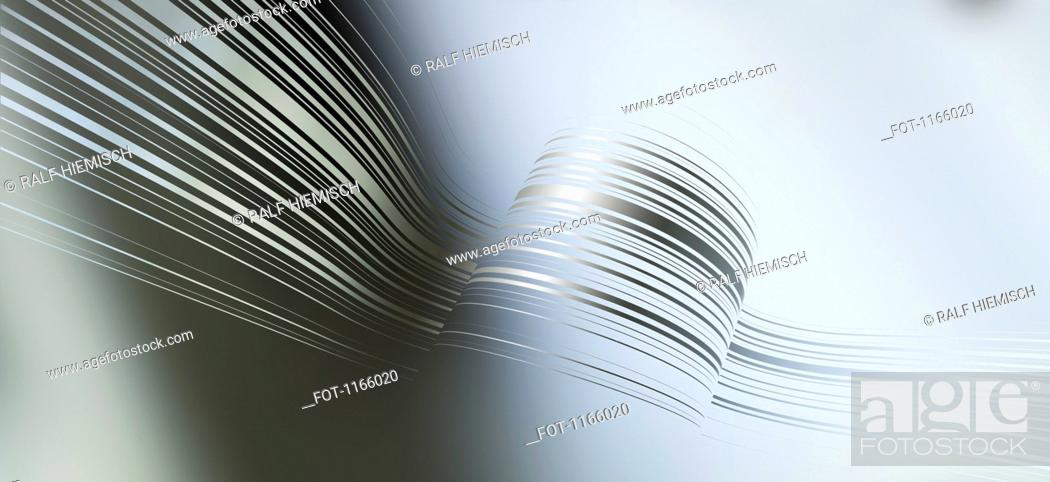 Stock Photo: Curved lines against an abstract background.