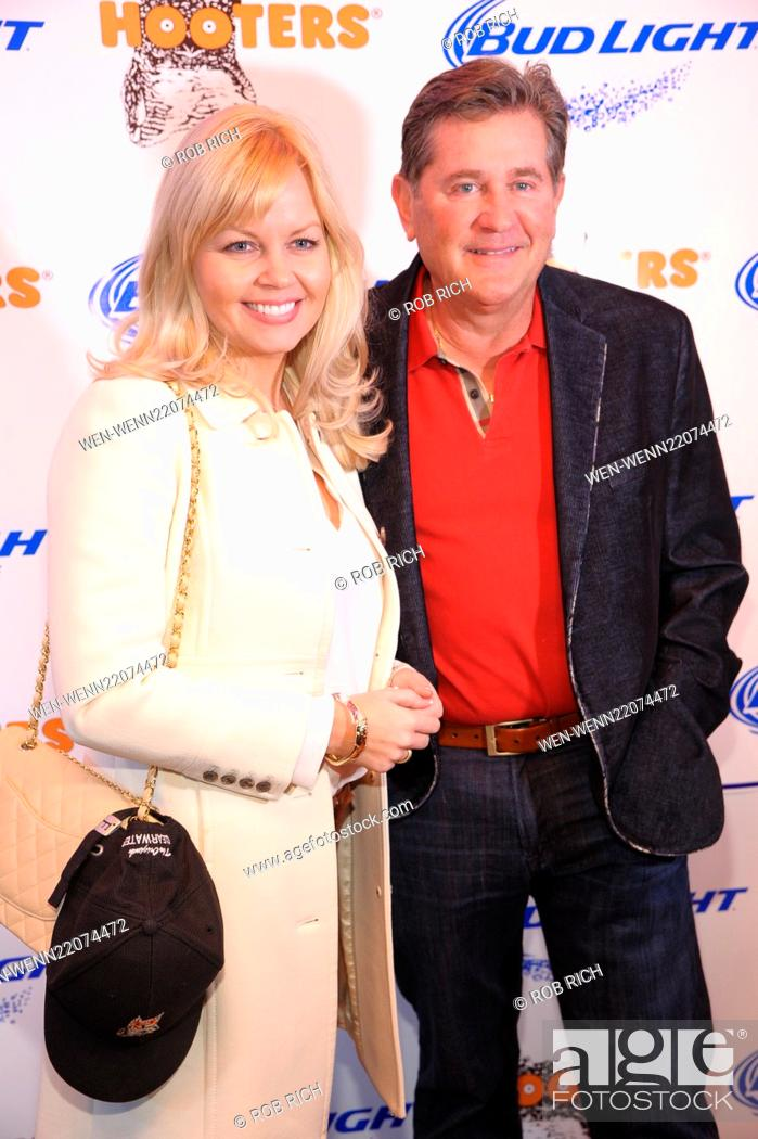 Stock Photo: VIP party to celebrate the launch of Flagship Hooters Featuring: Marsha Posey Droste, husb, Original Hooter's co-founder Ed Droste Where: Manhattan, New York.