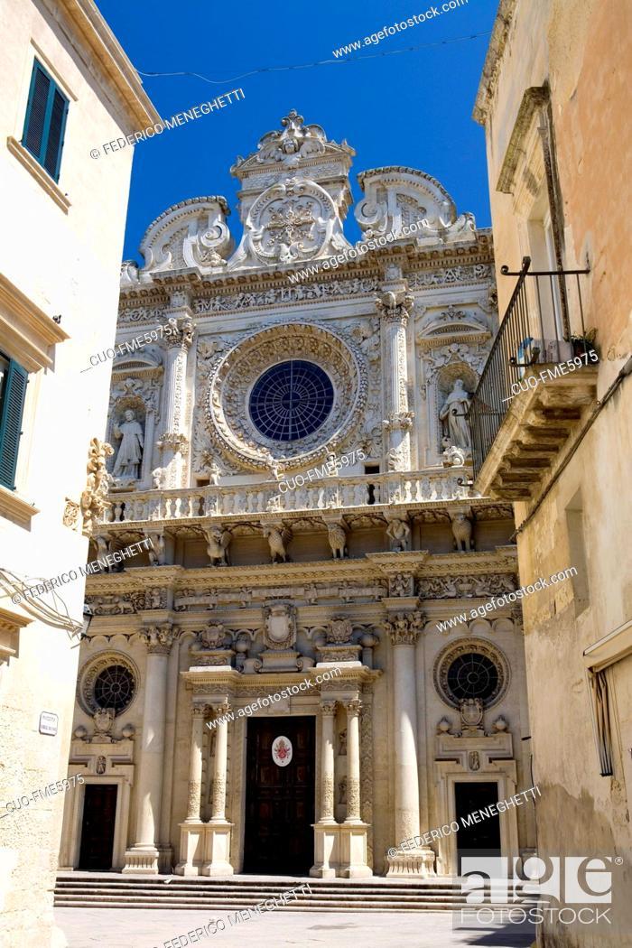 Stock Photo: Puglia: Lecce: Chiesa Santa Croce.