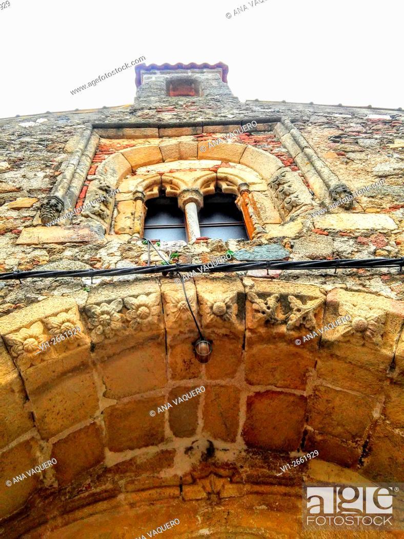 Stock Photo: Church, Abertura, Cáceres province, Extremadura, Spain.