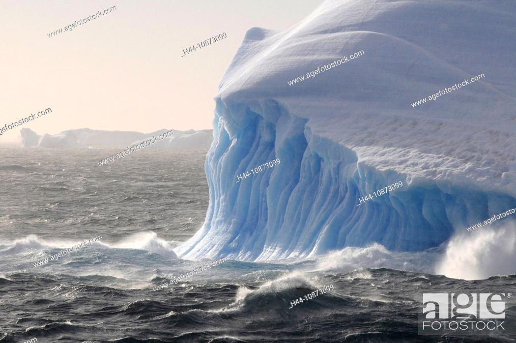 Imagen: Antarctica, Antarctic, Antarctica So, waves, iceberg, drift ice, glacier, ice, sea.