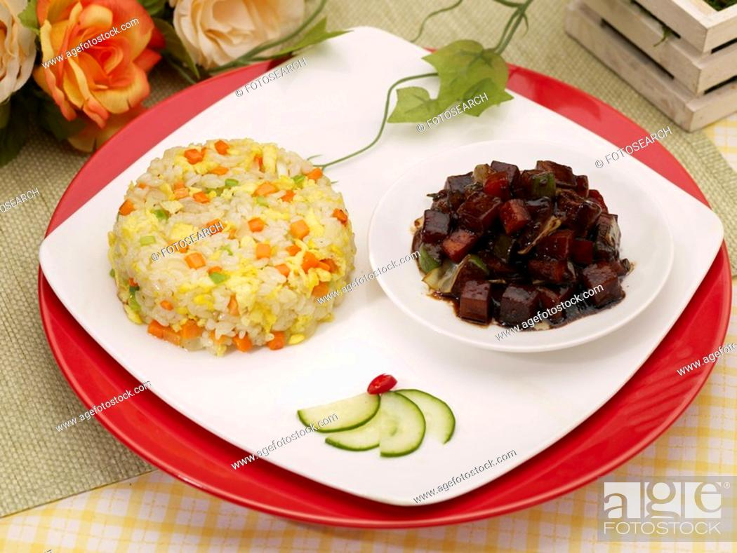 Stock Photo: dishes, Food styling, dish, dishes, dish, Chinese, Fried rice.