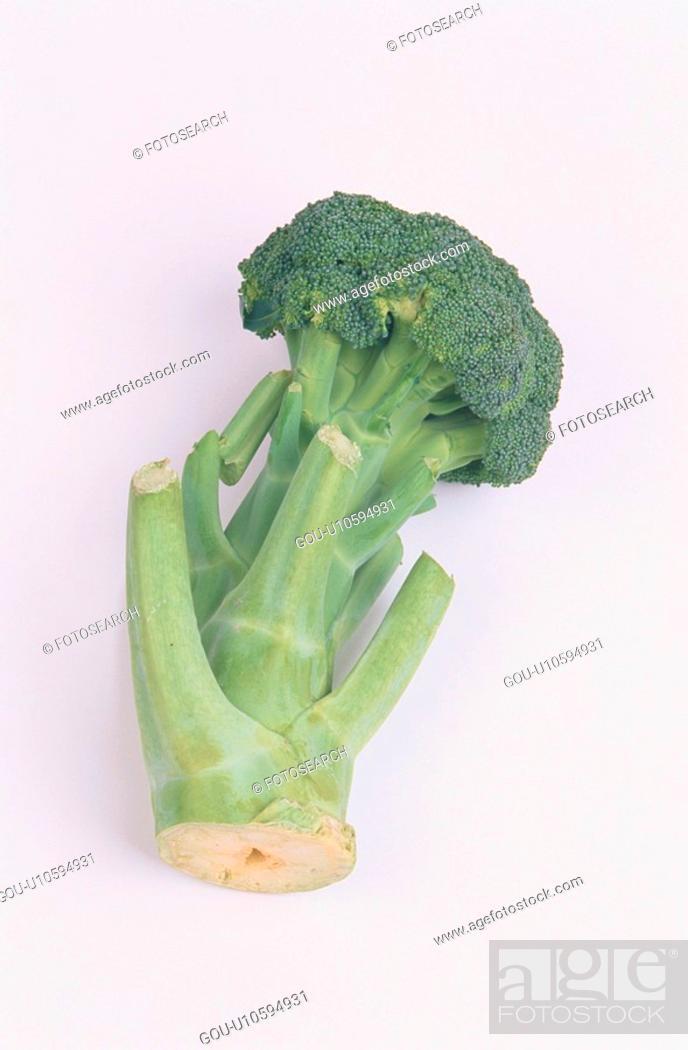 Stock Photo: Stem Of Broccoli.