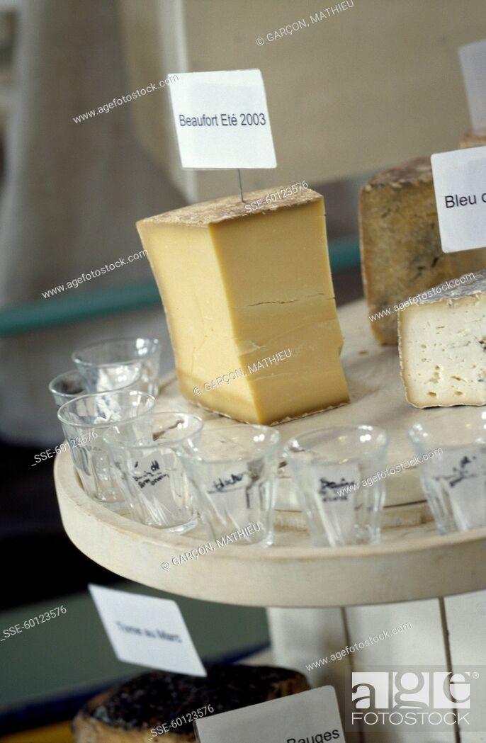 Stock Photo: Beaufort cheese.