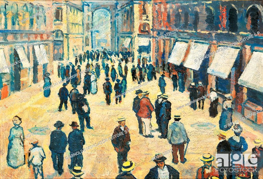 The Milan Gallery La Galleria Di Milano By Anselmo Bucci 1922 20th Century Oil On Canvas Stock Photo Picture And Rights Managed Image Pic Mdo 3125225 Agefotostock
