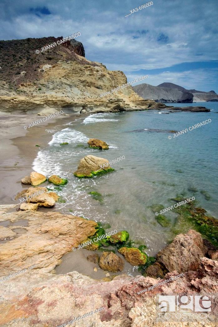 Stock Photo: Coast. Cabo de Gata-Nijar Biosphere Reserve, Almeria province, Andalucia, Spain.