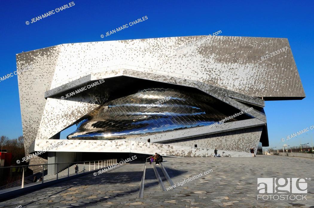 Stock Photo: New Philharmonie concert hall, Parc de La Villette, architect : Jean Nouvel, Paris, France.