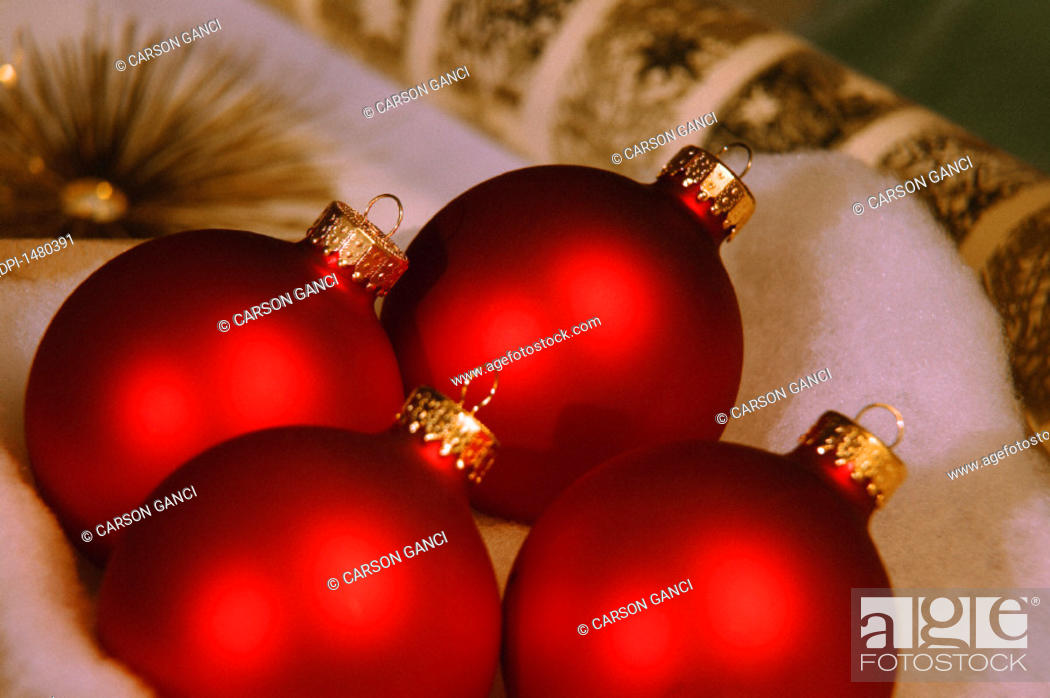 Stock Photo: Vibrant Christmas decorations.
