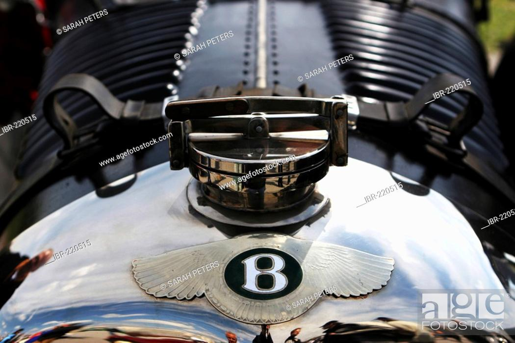 Bentley Logo On The Hood Of A Vintage Car Stock Photo Picture And Rights Managed Image Pic Ibr 220515 Agefotostock