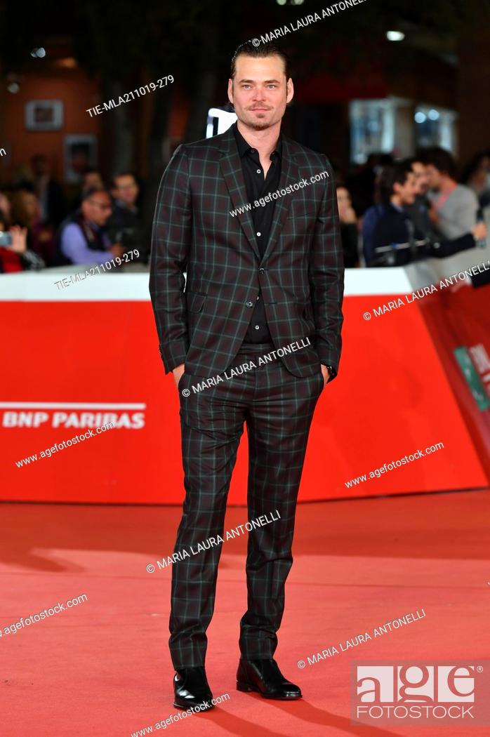 Stock Photo: Christopher Backus poses during the red carpet for 'Drowing' at the 14th annual Rome Film Festival, in Rome, ITALY-20-10-2019.
