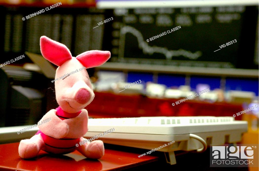 Pig As A Symbol Of Good Luck In The Frankfurt Stock Exchange Stock