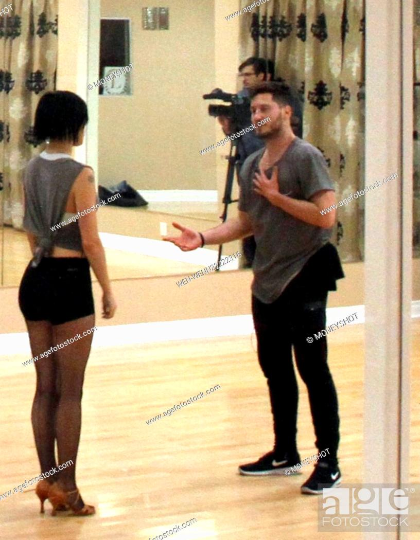 a8da63b2c7f Stock Photo - Rumer Willis wearing black hot pants and heels, practices her  dance routine with Val Chmerkovskiy for Season 20 of 'Dancing With the  Stars' in ...