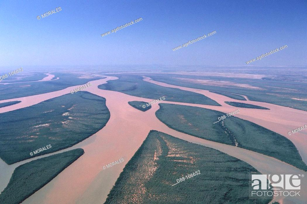 Stock Photo: Betsiboka River delta, Bombetoka Bay near Mahajanga. Madagascar.