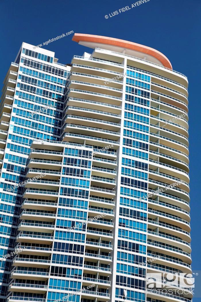 Stock Photo: Building in Miami Beach, Florida USA.