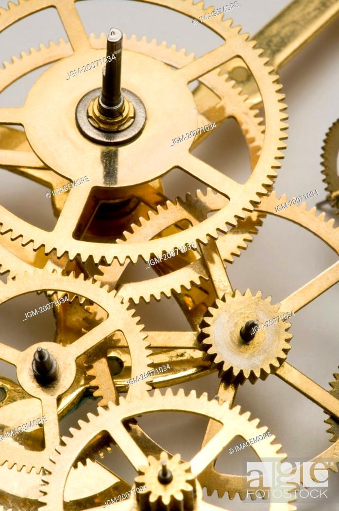 Stock Photo: A set of gears.