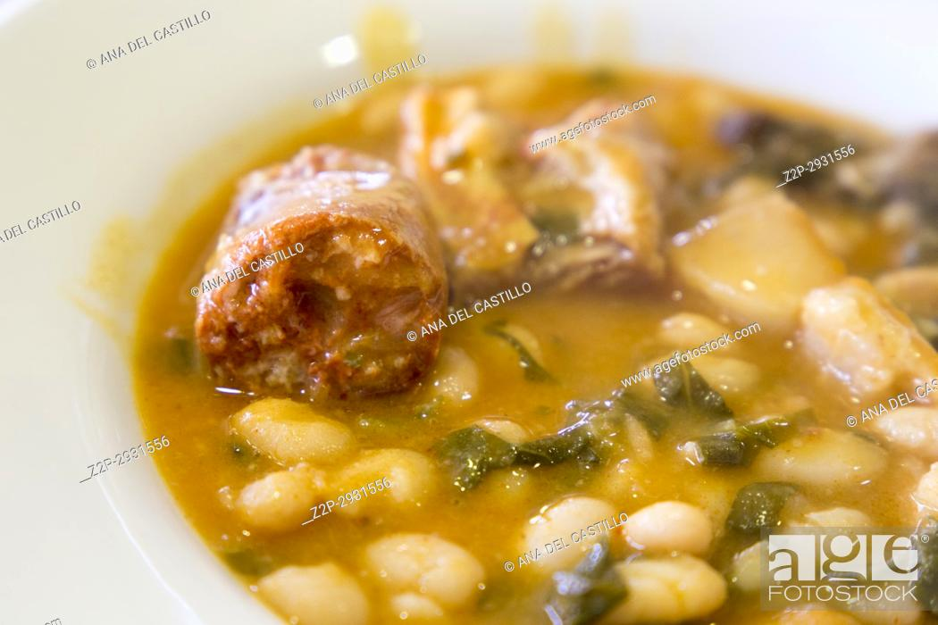 Stock Photo: Olla typical meal in Cantabria Spain.