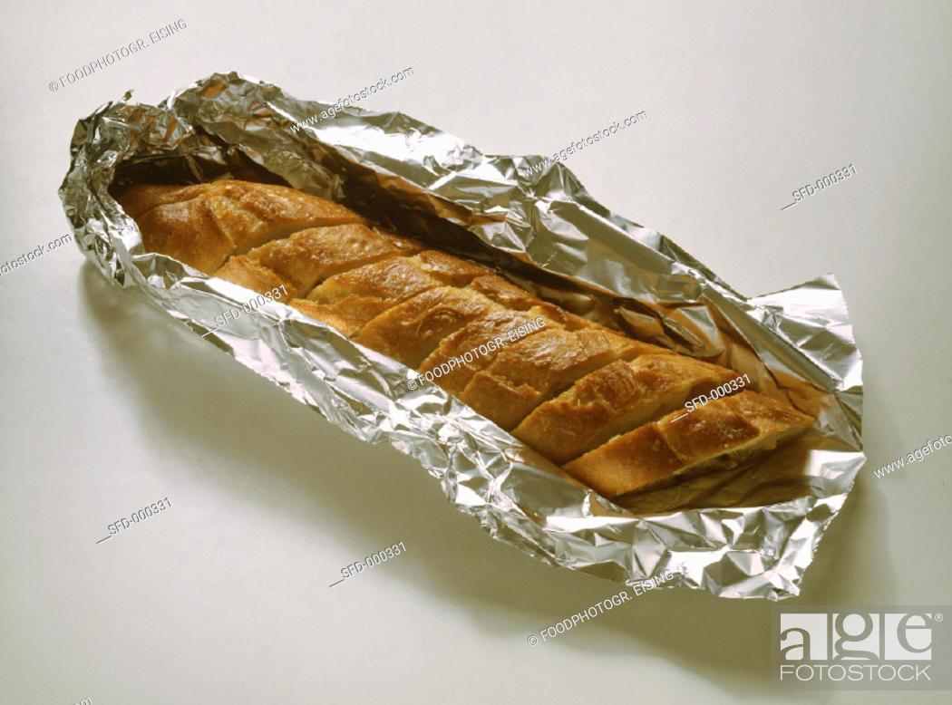 Stock Photo: Crisp Garlic Bread.