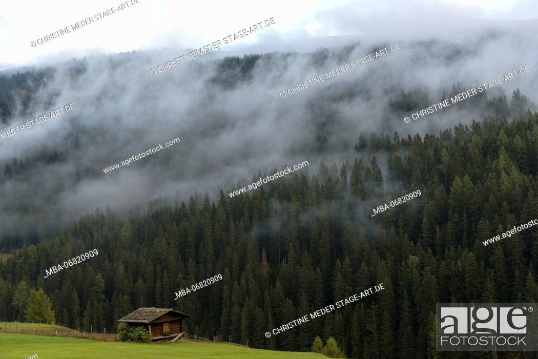 Stock Photo: Autumn mood in the mountains, Grisons, Switzerland.