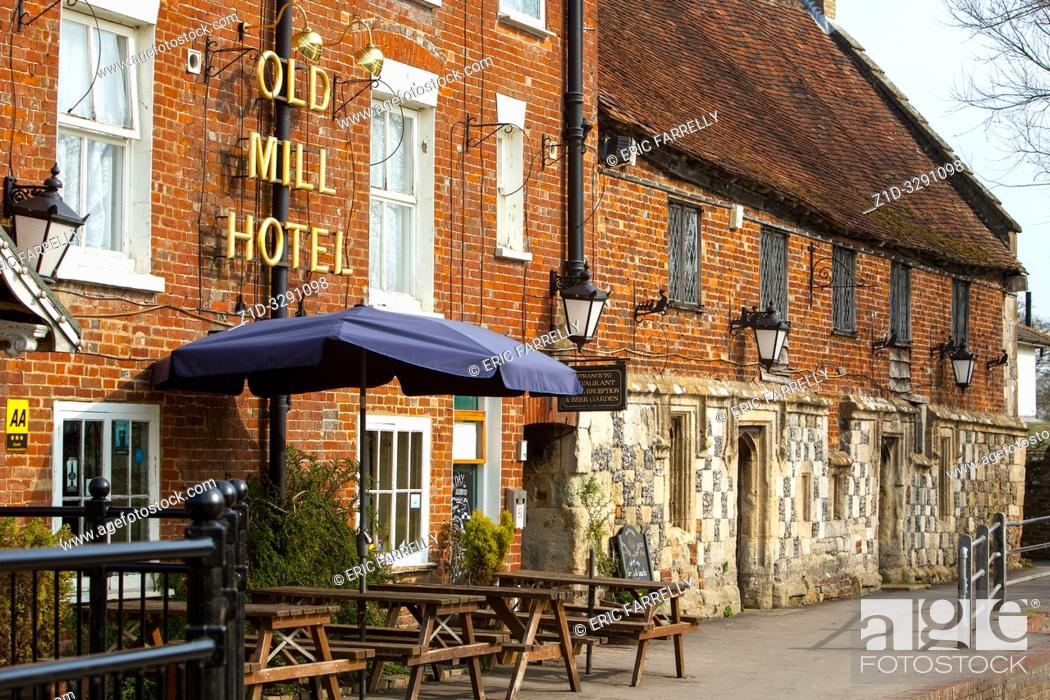 Stock Photo: Old Mill Hotel Salisbury England UK.