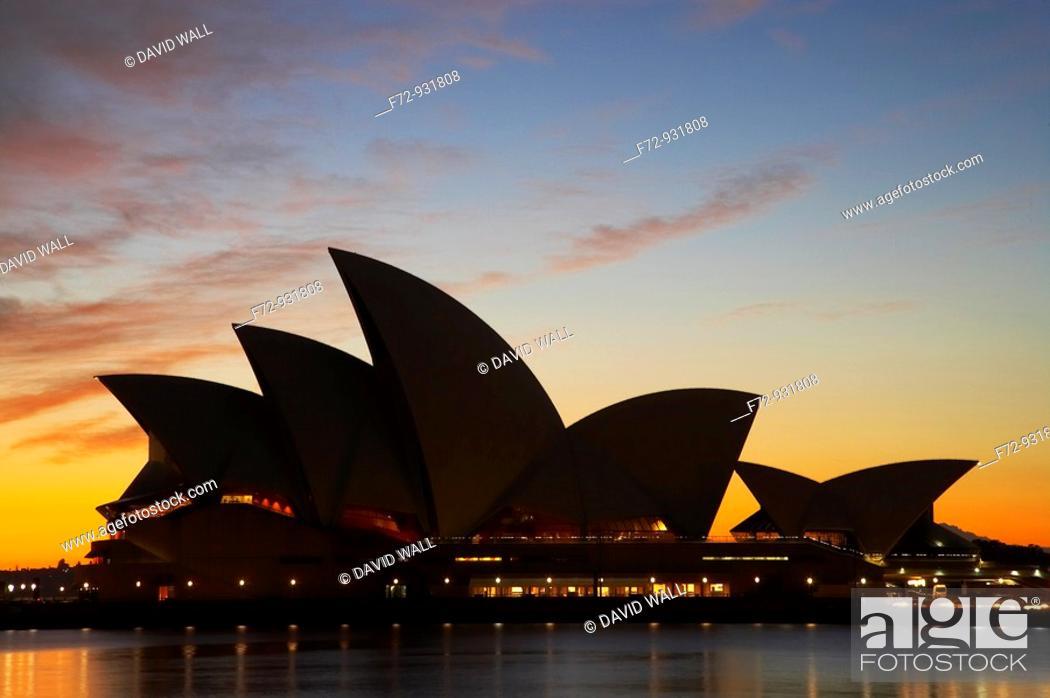 Stock Photo: Sydney Opera House at Dawn.