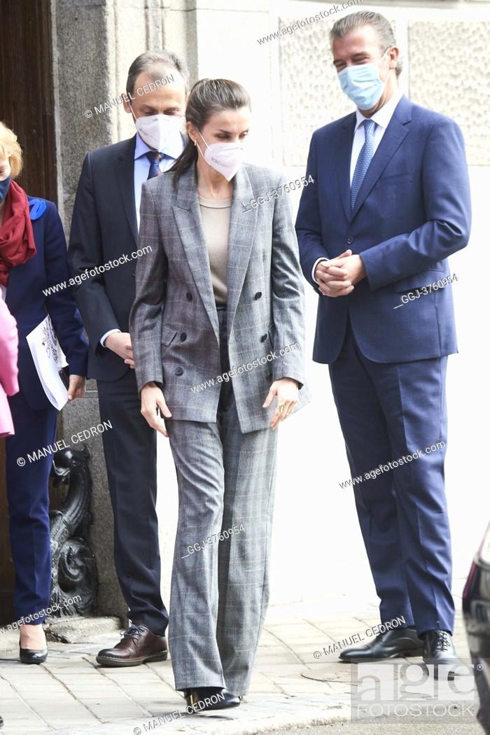 Stock Photo: Queen Letizia of Spain attends Meeting of the Strategic Council of the Project 'Women and Engineering' at Royal Academy of Engineering on January 26.