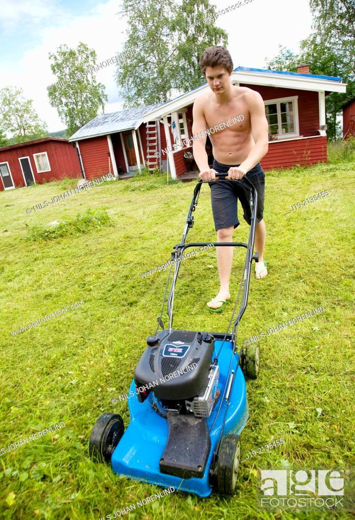 Stock Photo: summer the house northern Sweden,Jämtland.