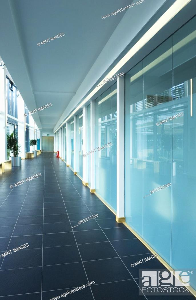 Stock Photo: Modern Office Building Interior.