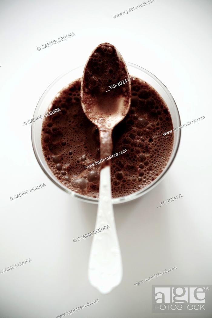 Stock Photo: chocolate drink serie.