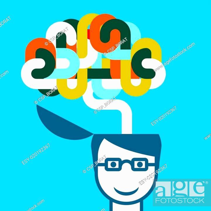 Stock Vector: Creative person - imaginative.