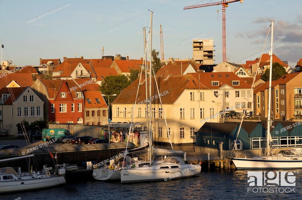 Stock Photo: Habor of Sonderborg, Denmark, Baltic Sea.
