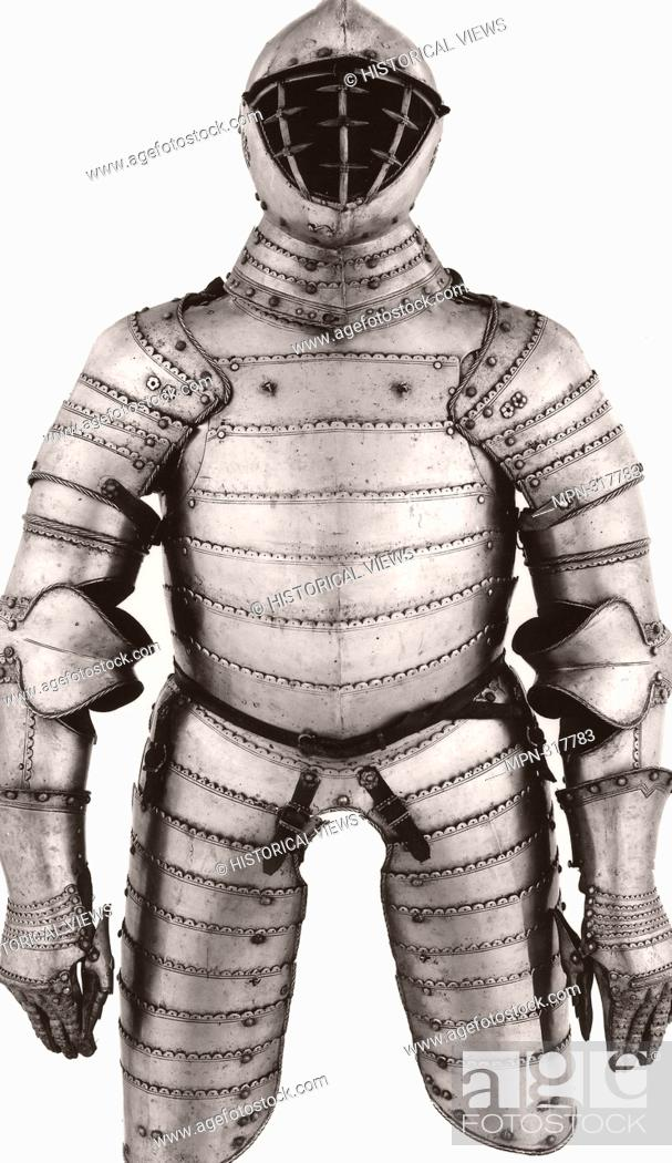 Stock Photo: Workshop of Michel Witz, the Younger. Three-Quarter Field Armor of Anime Construction - About 1560 - Michel Witz the Younger (Austrian, active 152560) Innsbruck.