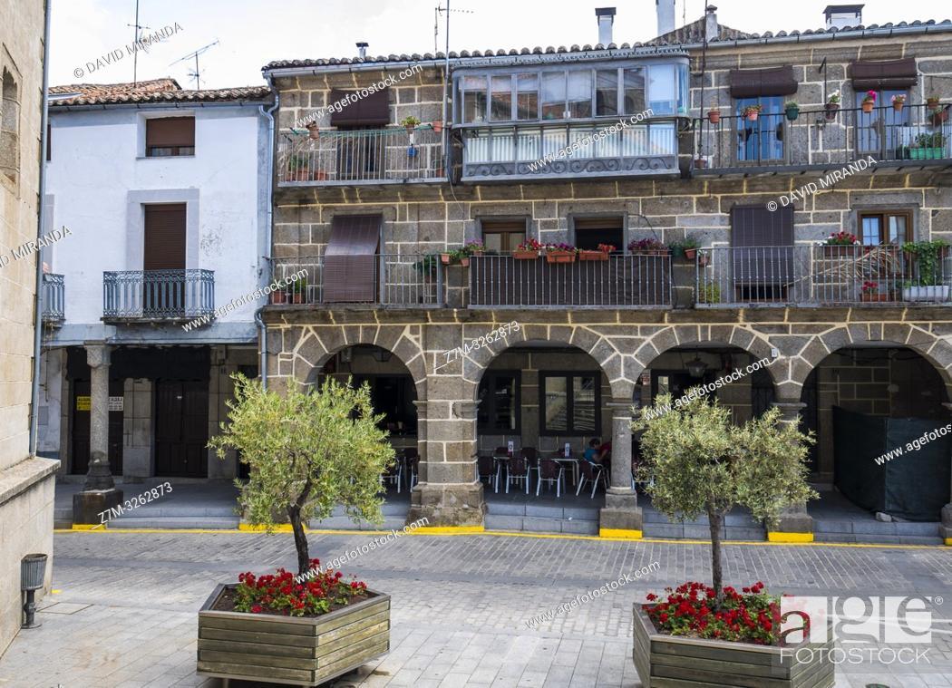 Stock Photo: Casa porticada. Béjar. Salamanca. Castilla León. España.