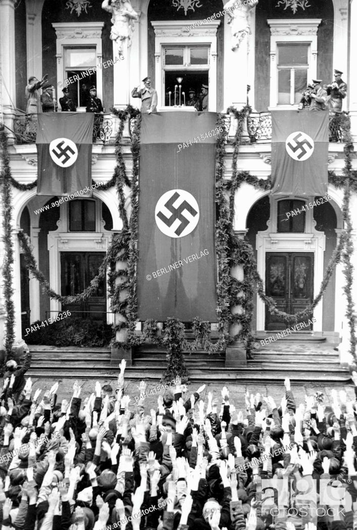 The Image From The Nazi Propaganda Shows Adolf Hitler Being