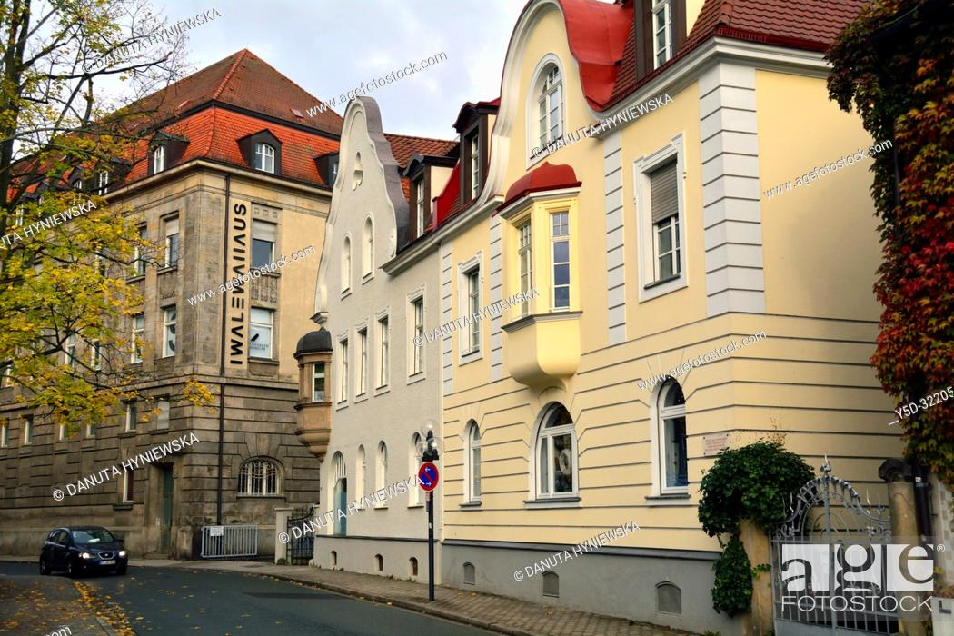 Stock Photo: Iwalewahaus building seen from Munzgasse street, mission of Iwalewahaus is to research, document and teach recent African culture.