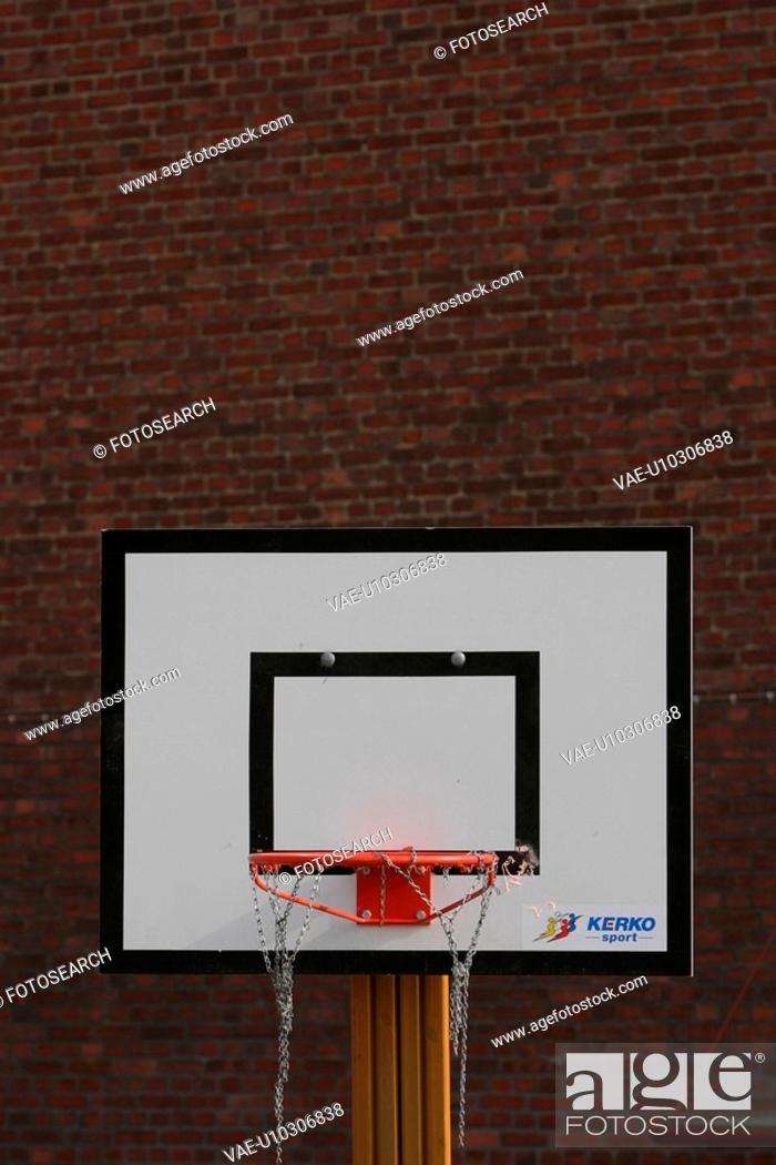 Stock Photo: basketball, hoop, pole, sport, board, threads.