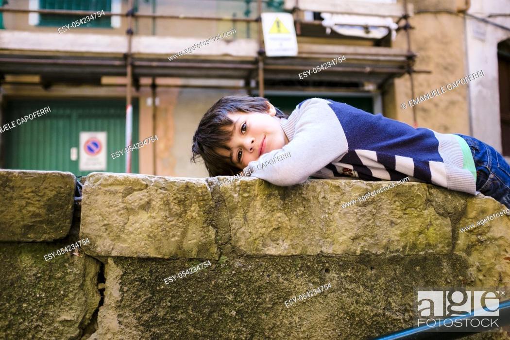 Stock Photo: Portrait of child.