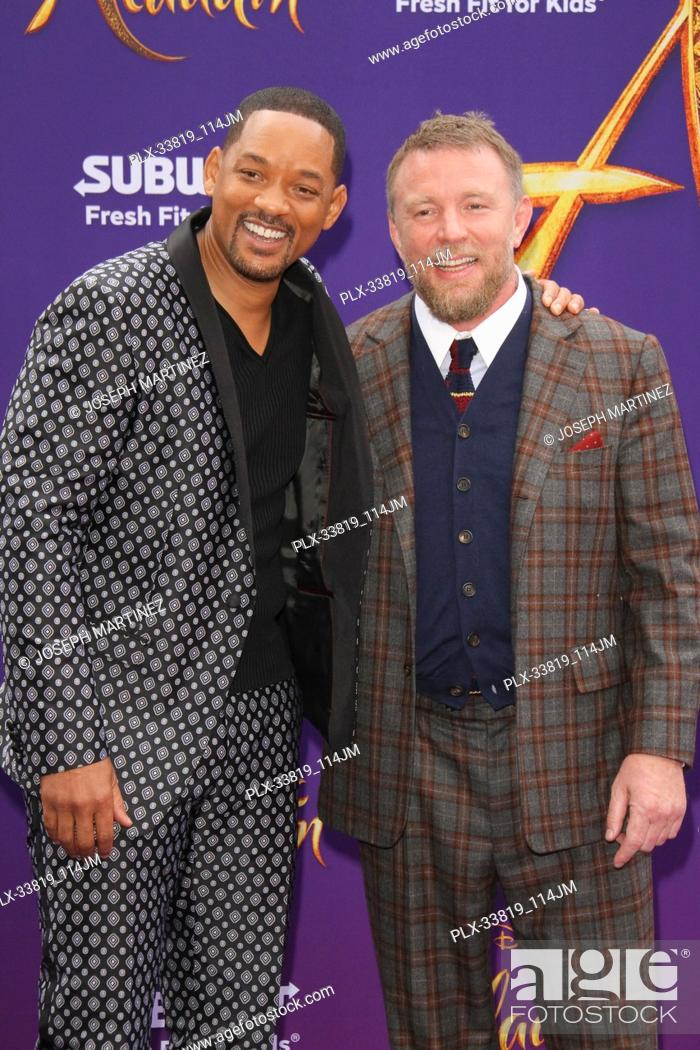 """Imagen: Will Smith, Guy Ritchie at The World Premiere of Disney's """"""""Aladdin"""""""" held at El Capitan Theatre, Hollywood, CA, May 21, 2019."""