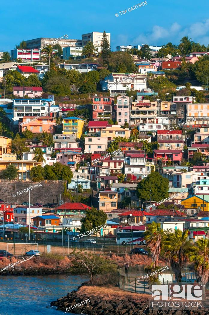 Stock Photo: Martinique, Fort de France, caribbean.