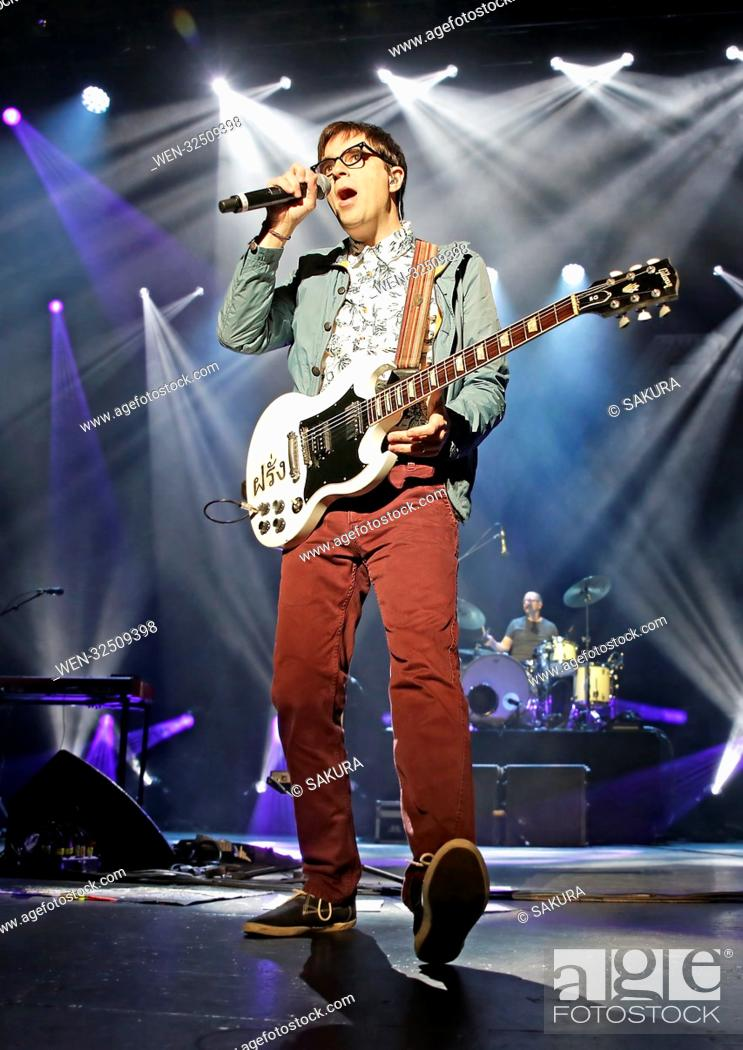 Stock Photo: Weezer performing at Manchester O2 Apollo Featuring: Weezer, Rivers Cuomo Where: Manchester, United Kingdom When: 25 Oct 2017 Credit: Sakura/WENN.com.