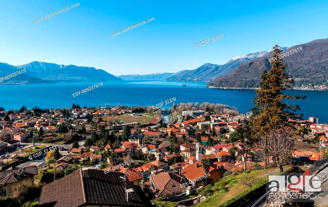 Stock Photo: Lake Maggiore view.